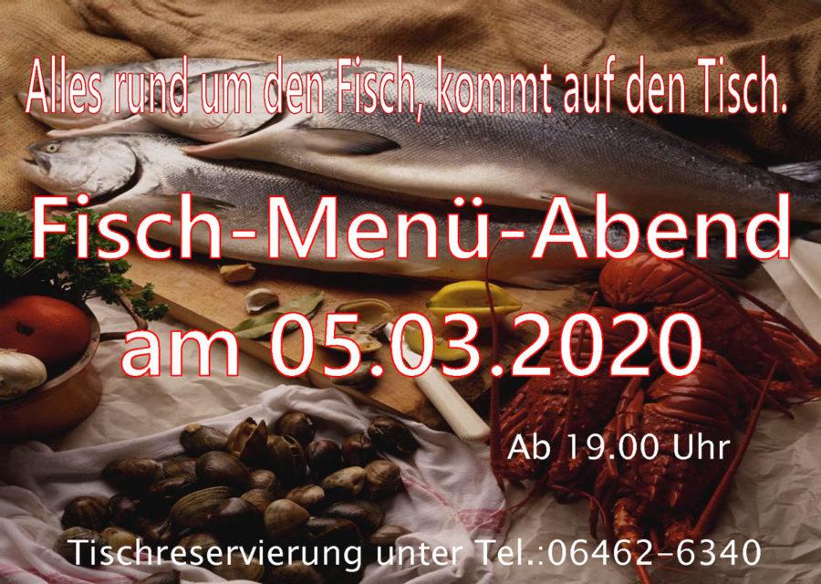 Fisch-Menü-Abend am 05.03.2020 ab 19Uhr